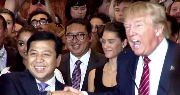 Setya Novanto dan Fadli Zon Bersama Donald Trump