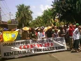 Demo Petani Bongkoran