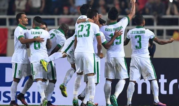 Pemain-Timnas Indonesia Meluapkan Kegembiraan