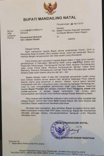 Jokowi Kalah Di Madina, Bupati Mundur Dari Jabatan