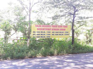 Pemilik Lahan Bersertifikat Lawan Eksekusi