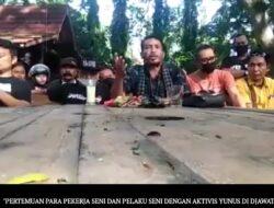 Kumpul Di Djawatan Warga Pelaku Seni Nilai Pemerintah Tak Konsisten, Yunus Ancam Demo Besar-Besaran