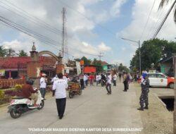 Program Masker Di Desa Sumberagung Pesanggaran 'Tak Sesuai' Surat Edaran Menteri