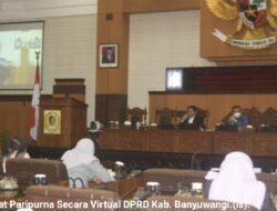 7 Prioritas Pembangunan Disebut PadaParipurna VirtualKUA-PPAS APBD 2021 Digelar DPRD Banyuwangi