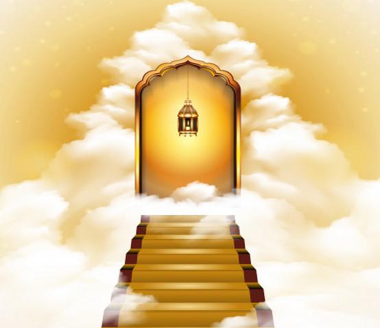 pintu suraga ilustrasi