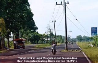 Tiang Listrik Ditengah Jalan Wiroguno Memakan Korban