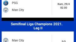 Jadwal Semifinal Liga Champions 2021