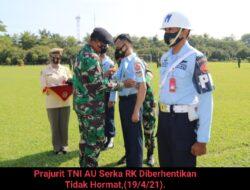 Terlibat Narkoba, Prajurit TNI AU Diberhentikan Tidak Hormat