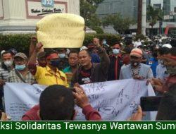 Aksi Solidaritas Dorong Polisi Tangkap Pelaku Pembunuhan Wartawan, 40 Orang Sudah Diminta Keterangan