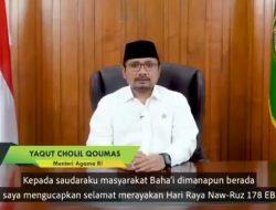 Mengejutkan ! Menteri Agama Ucapkan Selamat Hari Raya Ummat Baha'i