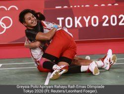 Berangkat Bukan Unggulan, Greysia/Apriyani Rebut Emas Olimpiade 2020