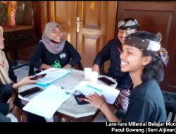 Ngelestarekaken Seni Aljin, Lare-lare Milenial Belajar Mocoan Pacul Gowang