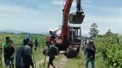 Gerombolan Begundal Serang Pekerja Pembuat Tapal Batas Tanah
